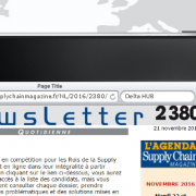 "Delta Douane dans la newsletter n°2380 de ""Supply Chain Magazine"""