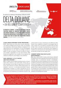 """Interview de Delta Douane dans """"Douane Magazine"""" n°8"""