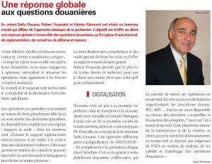 Interview de Delta Douane dans CLASSE EXPORT Magazine n°238