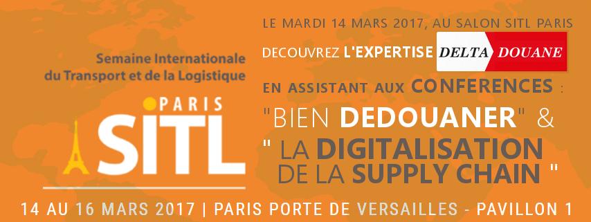 Venez rencontrer delta douane au salon sitl paris le 14 for Salon industrie paris 2017