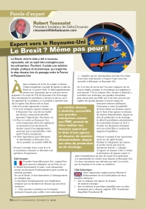 BREXIT : Nos conseils pour l'export vers le Royaume-Uni dans Supply Chain Magazine n°24