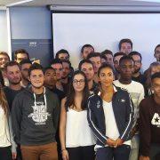 La promotion 2017-2018 du Bachelor Sport Event & Management d'ISEFAC Nantes sera parrainée par Agnès Raharolahy.